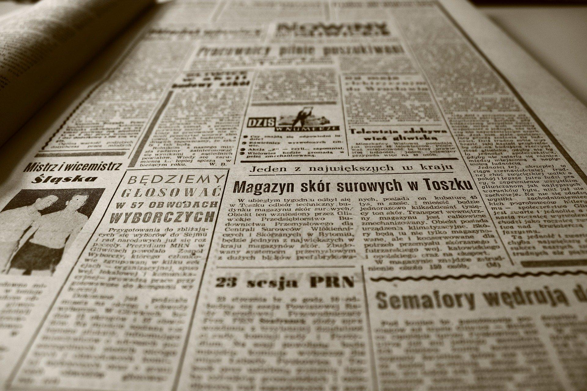 Een krantenstuk